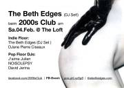 2000s Club mit The Beth Edges DJ-Set!, 1160 Wien,Ottakring (Wien), 04.02.2017, 21:00 Uhr