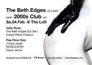 2000s Club mit The Beth Edges DJ-Set!, 1160 Wien,Ottakring (Wien), 04.02.2017, 21:00 Uhr