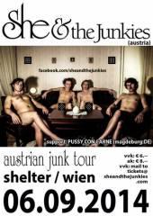 She and the Junkies @ Shelter / Wien, 1200 Wien 20. (Wien), 06.09.2014, 20:00 Uhr