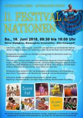 11. FESTIVAL DER NATIONEN, Miteinander leben  Miteinander feiern, 1220 Wien,Donaustadt (Wien), 10.06.2018, 09:30 Uhr