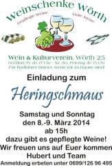 Heringschmaus, 8293 Wörth an der Lafnitz (Stmk.), 08.03.2014, 15:00 Uhr