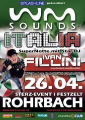 WM-Sounds Italia mit Ivan Fillini, 8234 Rohrbach an der Lafnitz (Stmk.), 26.04.2014, 21:00 Uhr