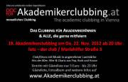 19. Akademikerclubbing im lutz - der club am 22. Nov. 2012 ab 20 Uhr! von Manfred