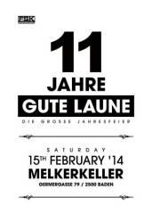 11 Jahre - Gute Laune, 2500 Baden (NÖ), 15.02.2014, 22:00 Uhr