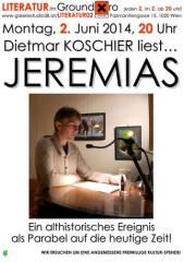 Leseabend mit dem Autor Dietmar Koschier im Ground Xiro!, 1020 Wien  2. (Wien), 02.06.2014, 20:00 Uhr