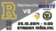 U15 American Football Club Rangers - Vienna Vikings, 2340 Mödling (NÖ), 25.10.2014, 11:00 Uhr