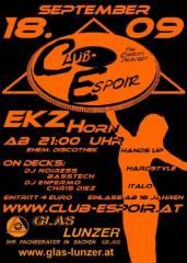 Club Espoir, 3580 Horn (NÖ), 18.09.2009, 21:00 Uhr