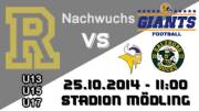 U13 American Football Club  Rangers - Salzburg Ducks, 2340 Mödling (NÖ), 25.10.2014, 14:00 Uhr