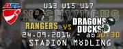American Football Club Rangers Nachwuchs Gameday, 2340 Mödling (NÖ), 24.09.2016, 09:30 Uhr