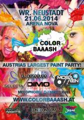 Color Baaash, 2700 Wiener Neustadt (NÖ), 21.06.2014, 21:00 Uhr