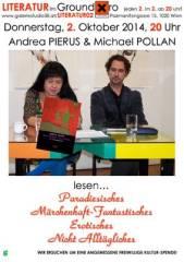 Andrea Pierus und Michael Pollan Lesung, 1020 Wien  2. (Wien), 02.10.2014, 20:00 Uhr