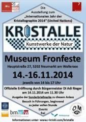 Kristalle - Kunstwerke der Natur, 5202 Neumarkt am Wallersee (Sbg.), 16.11.2014, 14:00 Uhr