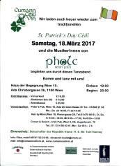 St. Patrick's Day Céilí (Irisches Tanzfest), 1100 Wien,Favoriten (Wien), 18.03.2017, 19:00 Uhr