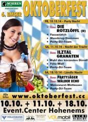 6. Emser Oktoberfest - drei Festtage!, 6845 Hohenems (Vlbg.), 18.10.2014, 19:00 Uhr