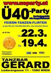 Ü40-Party, 1080 Wien  8. (Wien), 19.04.2014, 20:00 Uhr