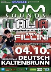 WM-Sounds Italia mit Star-DJ Ivan Fillini | Deutsch Kaltenbrunn, 7572 Deutsch Kaltenbrunn (Bgl.), 04.10.2014, 21:00 Uhr