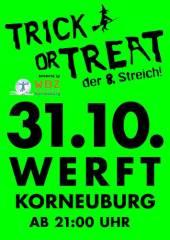 Trick or Treat  - der 8te Streich, 2100 Korneuburg (NÖ), 31.10.2014, 21:00 Uhr