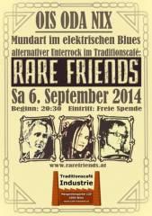 Rare Friends im Industrie!, 1050 Wien  5. (Wien), 06.09.2014, 20:00 Uhr