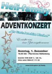 Adventkonzert der Heli-family, 9375 Hüttenberg (Ktn.), 01.12.2013, 19:00 Uhr
