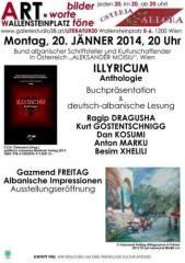 Erstmals deutsch-albanische Lesung bei bilder.worte.töne!, 1200 Wien 20. (Wien), 20.01.2014, 20:00 Uhr