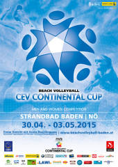 CEV Beachvolleyball Continental Cup Baden 2015, 2500 Baden (NÖ), 30.04.2015, 09:00 Uhr