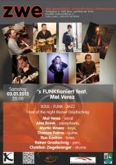 's FUNKtioniert feat. Mel Verez, 1020 Wien,Leopoldstadt (Wien), 03.01.2015, 20:00 Uhr