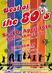 Best of the 80's + electro_space, 8020 Graz  5. (Stmk.), 10.04.2010, 22:00 Uhr