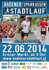 Badener Sparkassen Stadtlauf presented by Lawi, 2500 Baden (NÖ), 22.06.2014, 09:00 Uhr