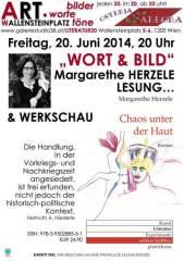 """Wort & Bild"" Margarethe Herzele, 1200 Wien 20. (Wien), 16.07.2014, 11:30 Uhr"