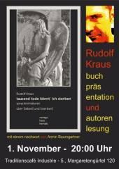 tausend tode könnt' ich sterben - Buchpräsentation von Rudolf Kraus im Industrie!, 1050 Wien  5. (Wien), 01.11.2014, 20:00 Uhr