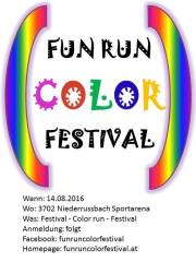 Fun Run Color Festival, 3702 Niederrußbach (NÖ), 14.08.2016, 16:00 Uhr