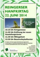 Reingerser Hanfkirtag 2014, 3863 Reingers (NÖ), 22.06.2014, 10:15 Uhr