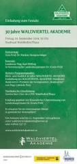 30 Jahre Waldviertel Akademie - u.a. mit Markus Hengstschläger, 3830 Waidhofen an der Thaya (NÖ), 19.09.2014, 19:00 Uhr