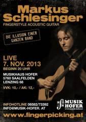 Markus Schlesinger - Live - Santa Cruz Guitars Roadshow, 5760 Saalfelden am Steinernen Meer (Sbg.), 07.11.2013, 20:00 Uhr