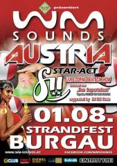 WM-Sounds Austria mit Star-Act fii  Strandfest Burgau, 8291 Burgau (Stmk.), 01.08.2014, 21:00 Uhr