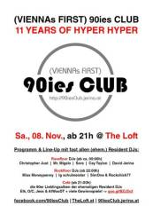 90ies Club: 11 Years of Hyper, Hyper!, 1160 Wien 16. (Wien), 08.11.2014, 21:00 Uhr