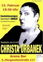 Christa Urbanek in Kontaktanzeigen Kennwort: UNIKAT Eine erfahrene Frau packt aus, 1050 Wien  5. (Wien), 13.02.2014, 19:30 Uhr