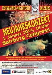 Neujahrskonzert der Blasmusik, 5020 Salzburg (Sbg.), 01.01.2014, 16:00 Uhr