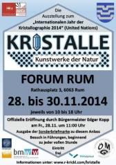 Kristalle - Kunstwerke der Natur, 6063 Rum (Trl.), 30.11.2014, 10:00 Uhr