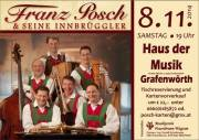 Konzert mit Franz Posch und seinen Innbrüggler, 3484 Grafenwörth (NÖ), 08.11.2014, 19:00 Uhr