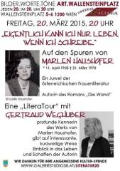 Eine Begegnung mit Marlen Haushofer bei bilder.worte.töne!, 1200 Wien 20. (Wien), 31.03.2015, 11:30 Uhr