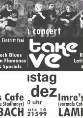 Take Five live in concert, 4650 Lambach (OÖ), 13.12.2014, 20:30 Uhr