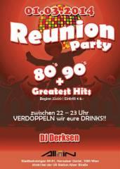 Reunion Party - 80s, 90s + Greatest Hits, 1090 Wien  9. (Wien), 01.03.2014, 22:00 Uhr