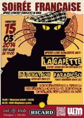 Soirée francaise live La Gapette (F) & Paradicso (A/H/F), 1040 Wien  4. (Wien), 15.03.2014, 19:00 Uhr