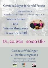 Wiener Zither und Wiener Mundwerk im Wiener Salettl, 1040 Wien  4. (Wien), 20.05.2014, 18:30 Uhr