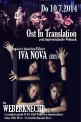 Iva Nova (RUS) + Ost In Translation, 1160 Wien 16. (Wien), 10.07.2014, 20:00 Uhr