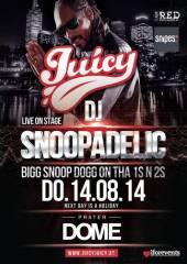 Juicy - Bigger & Better Special mit DJ Snoopadelic aka Snoop Dogg, 1020 Wien  2. (Wien), 14.08.2014, 21:00 Uhr