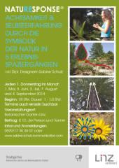 NATUR FÜR FRAUEN - 1-1,5 Stunde Sinnes-Natur-Spaziergang mit Dipl.-Designerin Sabine Schulz, 4020 Linz (OÖ), 04.09.2014, 18:00 Uhr