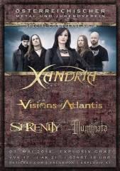 Xandria Visions of Atlantis Illuminata Serenity, 8020 Graz,05.Bez.:Gries (Stmk.), 03.05.2014, 18:00 Uhr