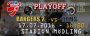 AFC Rangers - Gmunden Rams Div. III Playoff, 2340 Mödling (NÖ), 17.07.2016, 16:00 Uhr